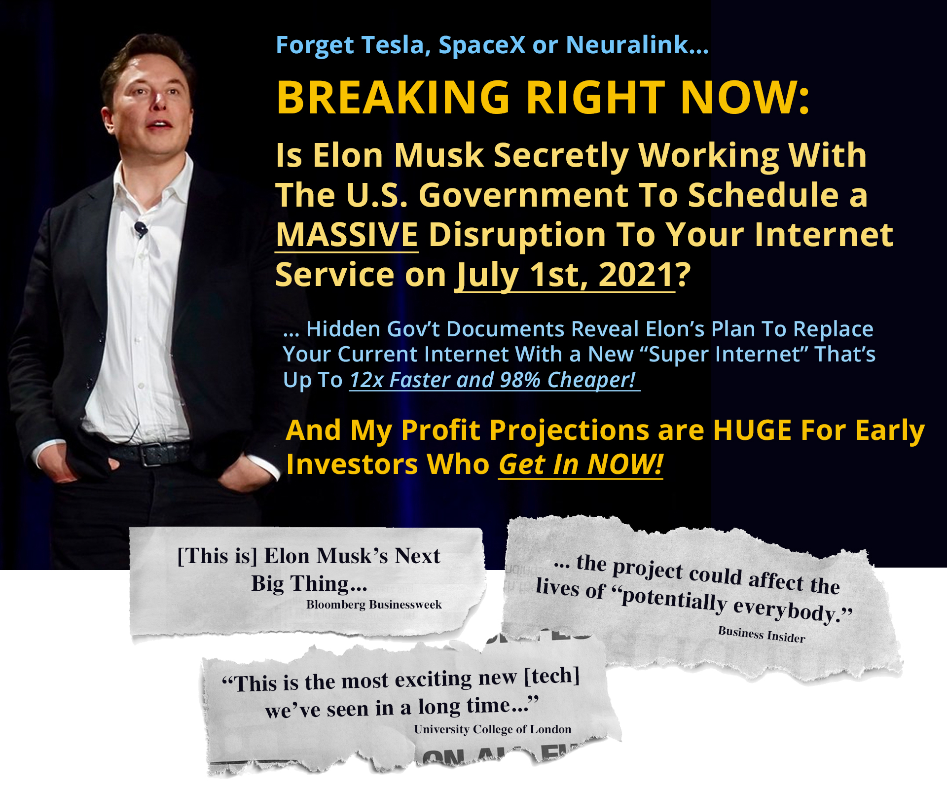 Elon Musk's Secret Plan to Murder Verizon, Comacast, Charter, AT&T, and All the Big Internet Providers with One Clean 'Kill Shot'